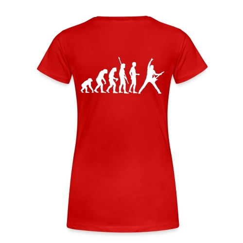 Evolution femme rouge - T-shirt Premium Femme