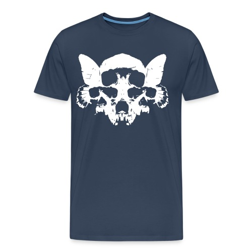 Butterfly Skulls - Tee - dark blue tee  (Continental Tee) - Men's Premium T-Shirt