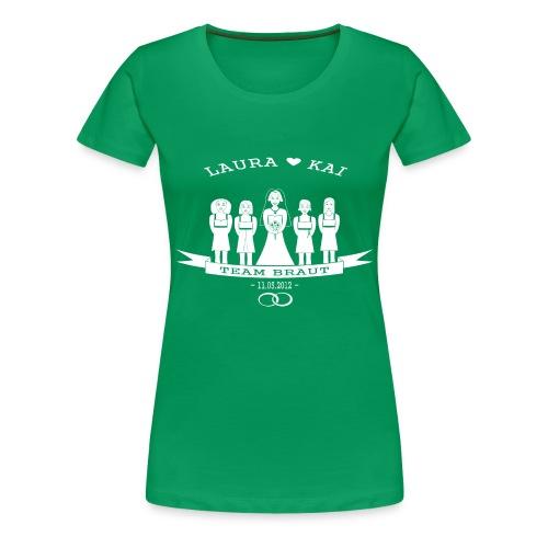Team Braut April Version - Frauen Premium T-Shirt