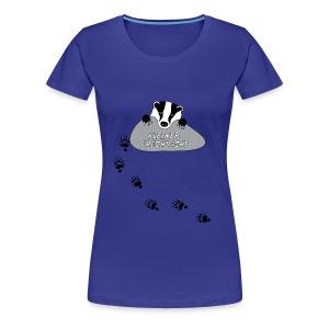t-shirt kinder baby kleiner frechdachs dachs frech spur tierspur pfote dreckspatz schmutzfink tiershirt - Frauen Premium T-Shirt