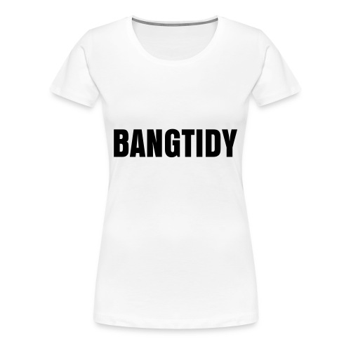 Ladies 'Bangtidy' Tee White/Black - Women's Premium T-Shirt