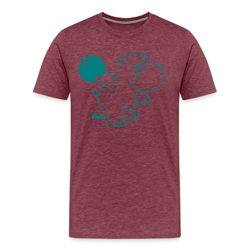 'Bowling Hippo' T-Shirt - Men's Premium T-Shirt