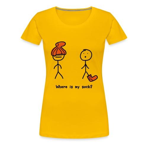 Where is my sock? - Women's Premium T-Shirt
