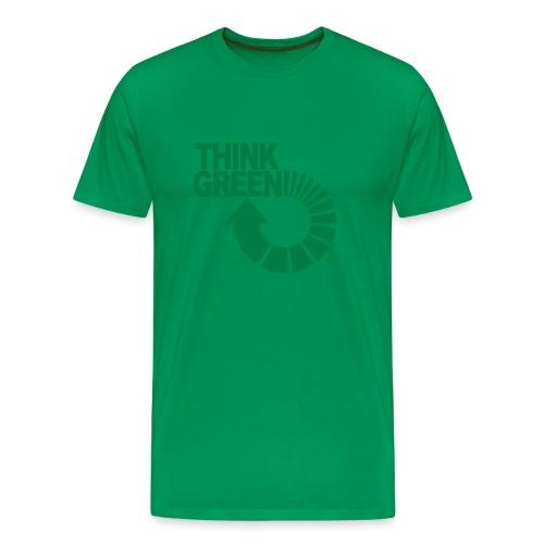 ajattele vihreää - Miesten premium t-paita