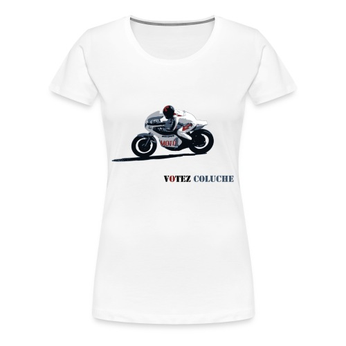 Coluche à moto bis - T-shirt Premium Femme