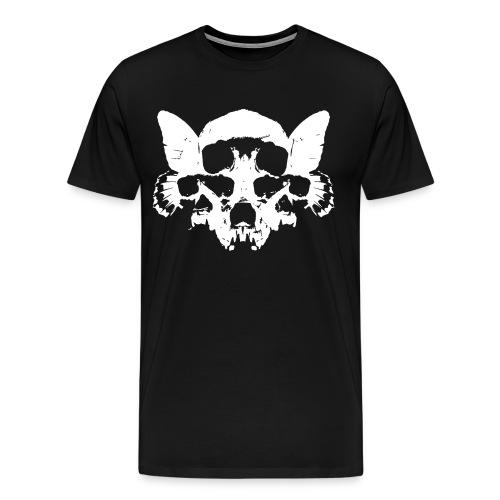 Butterfly Skulls - Tee  (Continental Tee) - Men's Premium T-Shirt