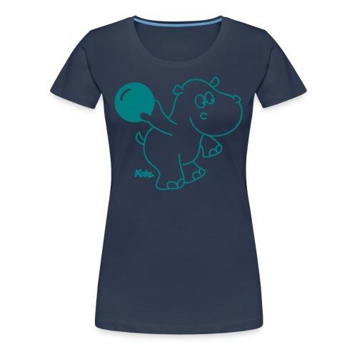 'Bowling Hippo' T-Shirt - Women's Premium T-Shirt