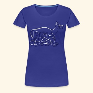Celtic Dog, Girlie - Frauen Premium T-Shirt