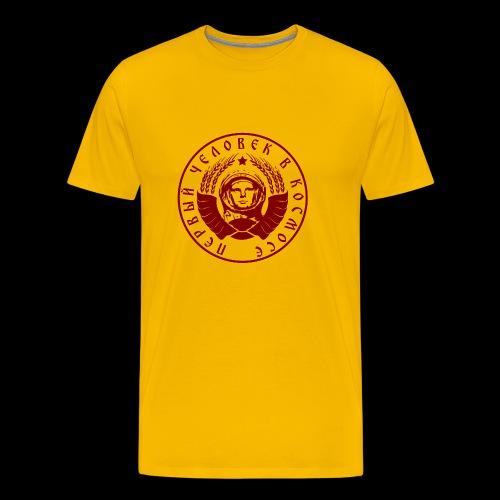 Kosmonaut 1c red - Miesten premium t-paita
