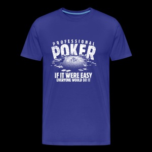Professional Poker white (oldstyle) - Herre premium T-shirt
