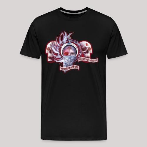Dreams Of The Mind logo met skulls - Mannen Premium T-shirt