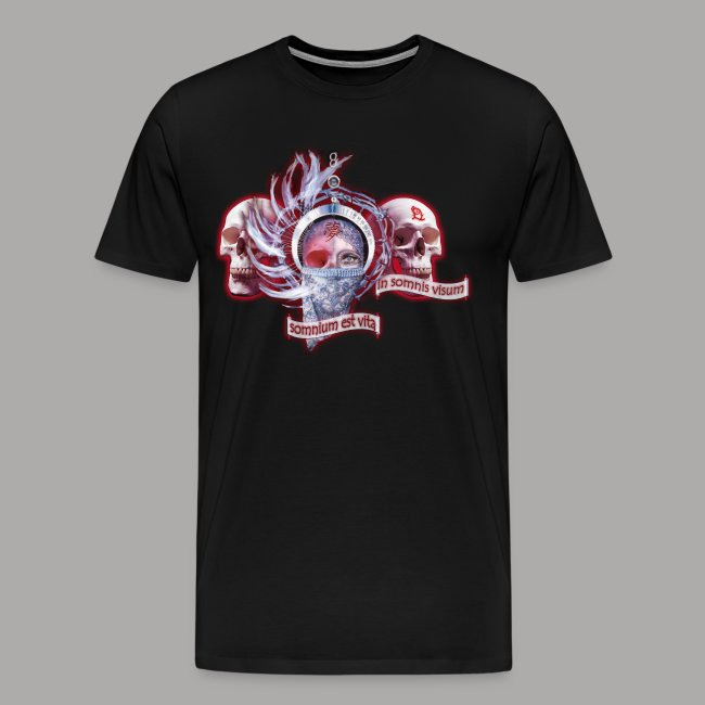 """Dreams Of The Mind"" logo met skulls"