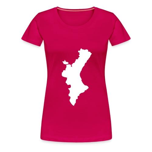 Mapa valencià amb relleu - Xica  - Camiseta premium mujer