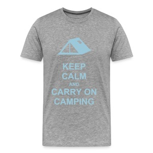 Keep Calm and Carry on Camping Tee - Men's Premium T-Shirt
