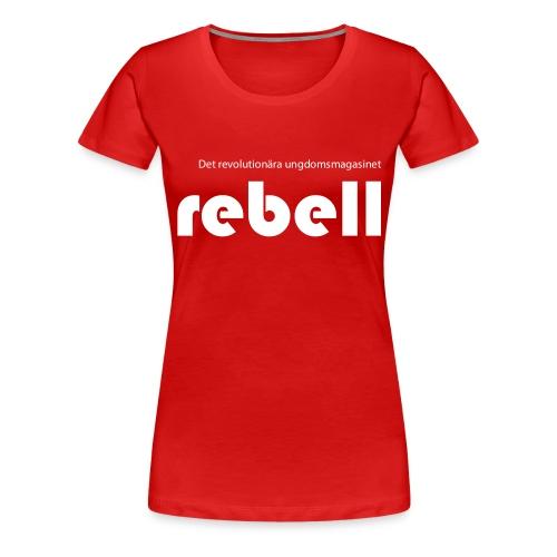T-shirt med Rebells logga (dam) - Premium-T-shirt dam