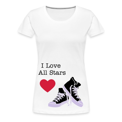 T-shirt wit - I Love All Stars - Vrouwen Premium T-shirt
