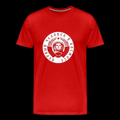 Kosmonaut 1c white - Miesten premium t-paita