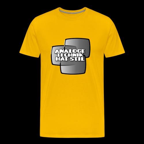 analoge Technik hat Stil - Koszulka męska Premium