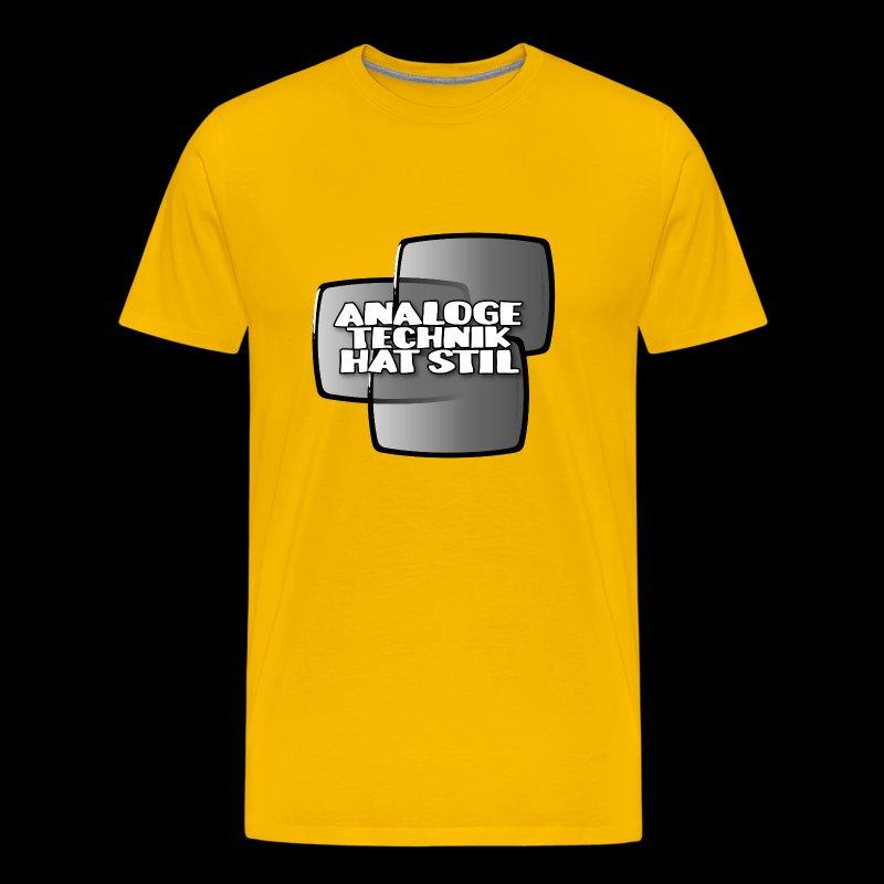 analoge Technik hat Stil - Herre premium T-shirt