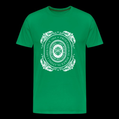 Poker Cards 1864 white (oldstyle) - Männer Premium T-Shirt