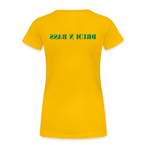 Female Drum n Bass Tee (Yellow) - Women's Premium T-Shirt