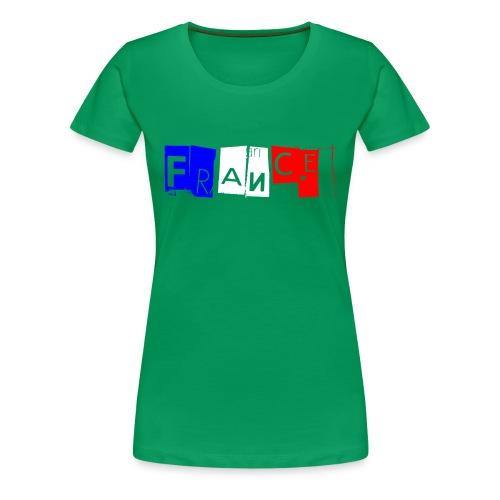 T-shirt Femme - France tricolore Fors - T-shirt Premium Femme