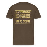 Tee shirts ~ T-shirt Premium Homme ~ 100% Scout