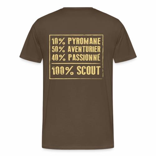 100% Scout - T-shirt Premium Homme