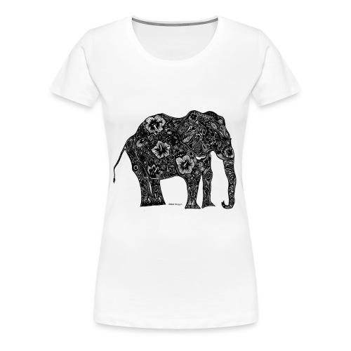 Chloë Coggin Black Elephant - Women's Premium T-Shirt