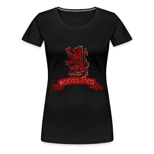 Scotland: Lion Rampant with Scroll - Women's Premium T-Shirt