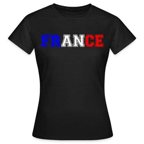 T-shirt Femme - France tricolore Heavy - T-shirt Femme