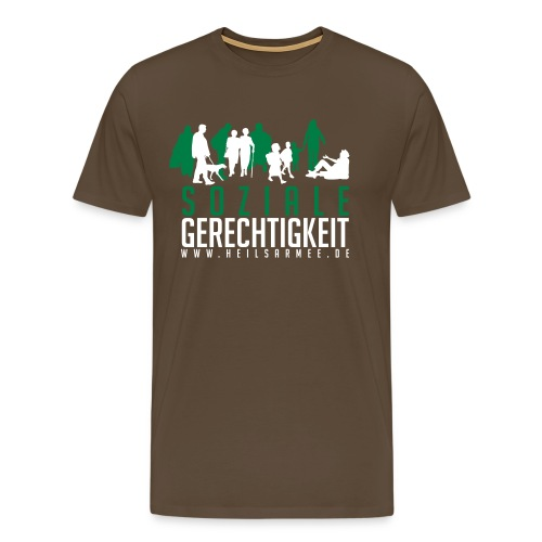 Soziale Gerechtigkeit (grün/weiß) - Männer Premium T-Shirt