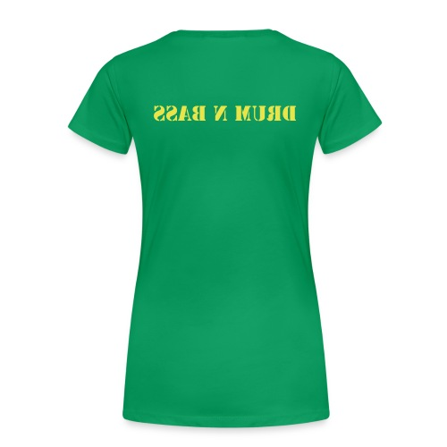 Female Drum n Bass Tee (Green) - Women's Premium T-Shirt