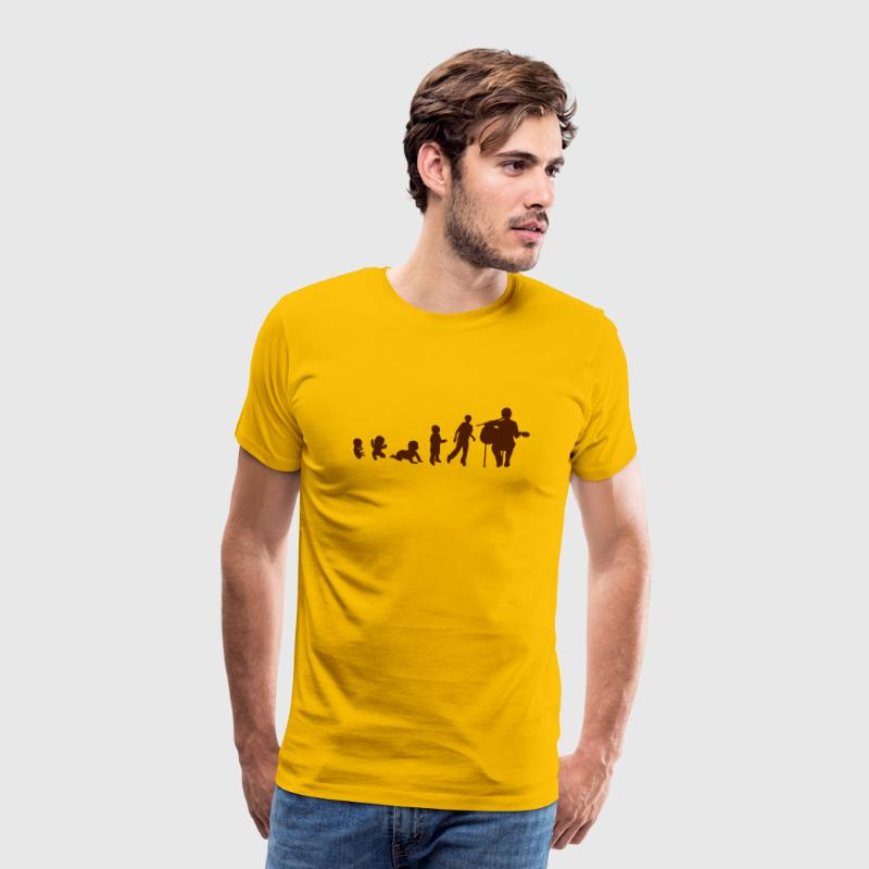 evolution homme guitariste guitare Tee shirts - T-shirt Premium Homme