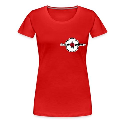 Logo på bröst.  - Premium-T-shirt dam