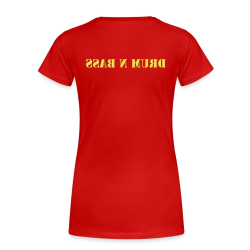 Female Drum n Bass Tee (Red) - Women's Premium T-Shirt