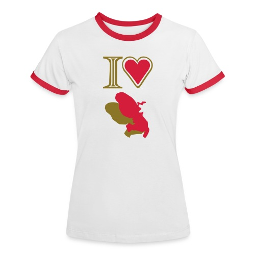 i love Martinique t-shirt - Women's Ringer T-Shirt