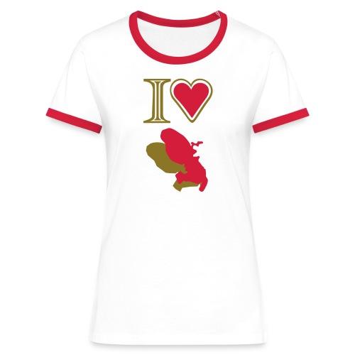 i love Martinique t-shirt - Women's Ringer T-Shirt