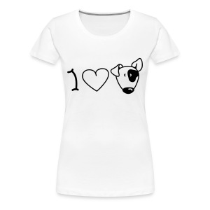 Women's Girlie T-Shirt - Border Collie - I Love Dogs (Patch) - Women's Premium T-Shirt