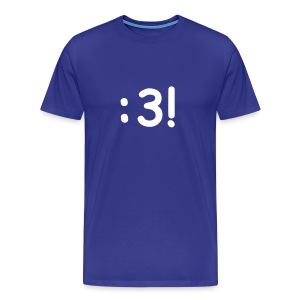 Men's Classic T-Shirt with :3! Design - Men's Premium T-Shirt