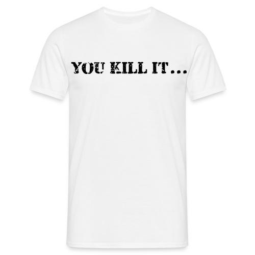 Drück Vorne und Hinten - Männer T-Shirt