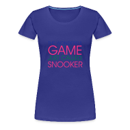 T-Shirts ~ Women's Premium T-Shirt ~ WONDERFUL GAME SNOOKER