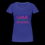 T-Shirts ~ Frauen Premium T-Shirt ~ WONDERFUL GAME SNOOKER