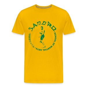 Sandro - School of Martial Arts (Yellow and Green) - Men's Premium T-Shirt