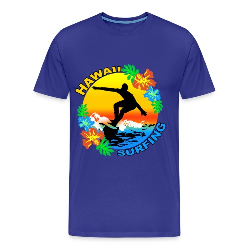 hawaii surfing design t-shirt - Men's Premium T-Shirt