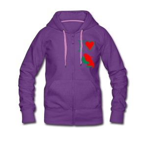 i love Martinique - Women's Premium Hooded Jacket