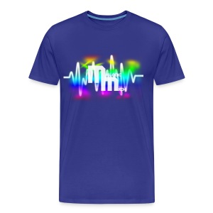 M BLUE - Mannen Premium T-shirt