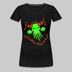 WTHngo: Cthulhu Rocks (2 colours) - Women's Premium T-Shirt