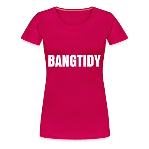 Ladies 'Bangtidy' Tee White/Pink - Women's Premium T-Shirt