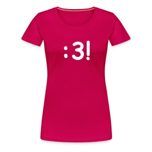 Women's Classic T-Shirt with :3! Design - Women's Premium T-Shirt
